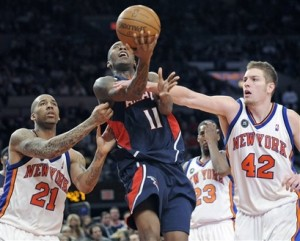 When former Knick Jamal Crawford returned to Madison Square Garden as a member of the Atlanta Hawks in early March of 2010 he was the NBA active leader in consecutive games without making the playoffs.