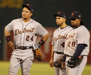 Speaking with thesportscapital.net 2012 triple crown winner Miguel Cabrera (24) and first year Tiger slugger Prince Fielder (28) were happy to see the Bronx bats slumping and kept it moving.
