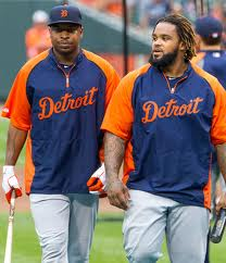 Delmon Young (Left) killed the Yankees during the entire ALCS and Prince Fielder (right) did not know about Jeter's season ending injury until I told him in the Tigers Clubhouse after the game.