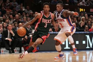 Brandon Jennings torched the Knicks in his ever game there as a pro making him feel great inside doing it to the team that did not find him worthy enough to draft.
