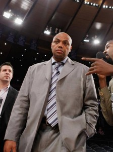 We were the only ones to speak with Charles Barkley after the game.  This picture is from a year ago the first time Barkley spoke to us at Madison Square Garden.