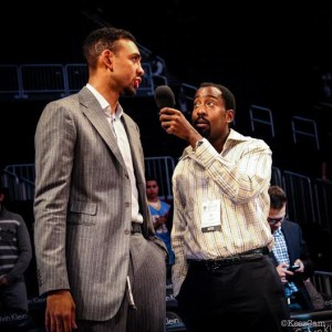 Jared Jeffries in Brooklyn at the Barclay's Center before his Nuggets took on the Nets on December 3rd.