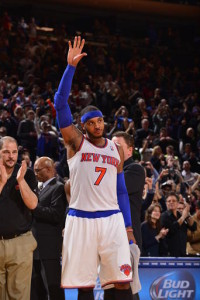 New York Knick Carmelo Anthony set a Knicks franchise record and Madison Square Garden scoring record on Friday January 24th, 2014