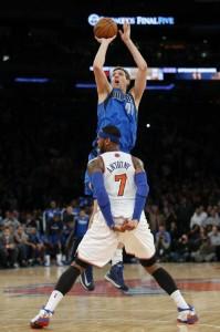 Dirk Shoots Over Carmelo