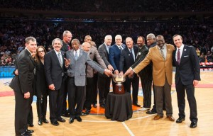 The 1973 Knicks the last championship team in franchise history were honored at Madison Square on April 13th, 2013.