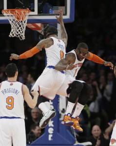 The Knicks have played a lot better since inserting J.R. Smith and Amare Stoudamire into the starting lineup.