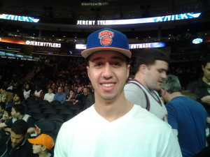 Knicks fan Lucas from Brooklyn, New York is a die hard Knicks and is with team through the good and the mostly bad.