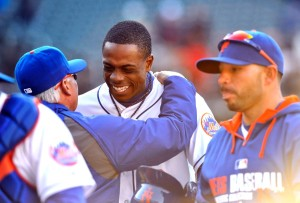 After leaving the Yankees this past winter and joining the Mets Curtis Granderson has struggled at the plate through the first 3 weeks of the season but his manager Terry Collins is happy to have him.