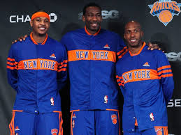 When Carmelo arrived to the Knicks in February 2011 he also came over with championship point guard Chauncey Billups. The days before Amare began to break down physically with the Knicks.  Their were big hopes on this day.