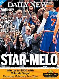 It was an exciting time for Knicks fans and the tabloids played up the hype.