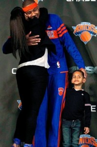 With Carmelo's wife Lala a big public personality herself it is very hard to see the Anthony's leaving New York unless he has a chance to play with say, Lebron James in Miami?