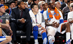 During Linsanity the Knicks won 7 straight games and 9 of 10 with Carmelo Anthony in street clothes due to injury.