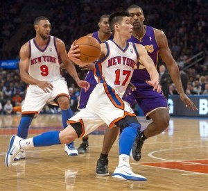Jeremy Lin was sensational on this night and not even defensive stalwart Metta World Peace could get him off his game.