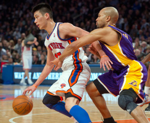 Lin won the point guard battle over new Knicks head coach Derek Fisher that night.