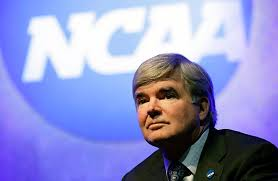 This man Mark Emmert is the head of the NCAA and continues his arguments for why college athletes should not be paid during the Ed O'Bannon versus NCAA case which is taking place right now.