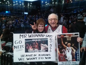 Mr. and Mrs. Whammy are longtime Nets fans going back to their days in New Jersey and they are staples and fan favorites @ the Barclays Center in Brooklyn.