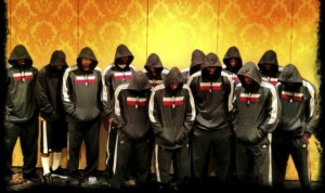 When Lebron James was in Miami the entire team posed for this photo in support of Trayvon Martiin.