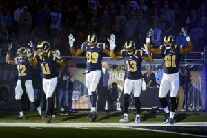 On Sunday November, 30th these St. Louis Rams players made this statement following a Ferguson, Missouri grand jury's decision not to indict the offer responsible for killing 18 year old Mike Brown.