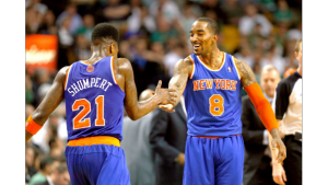J.R. Smith and Iman Shumpert during good times in New York.