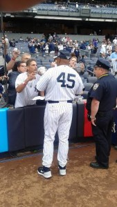 Cecil Fielder (45) has a son Price Fielder in the Major Leagues who is one of the League's stars.  At Old-Timers Day at Yankee Stadium he says a father's role is very important for a child learning baseball.