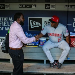 Former big leaguer and World Series champion Billy Hatcher has been on the Cincinnatti Reds coaching staff since 2006, never haven't gotten a legit shot at a managerial position anywhere.  Hatcher is a passionate voice.