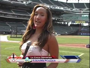 Jennifer reporting out in the field