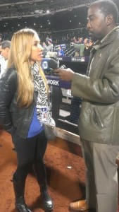 Lindsay Berra and myself at the 2015 World Series