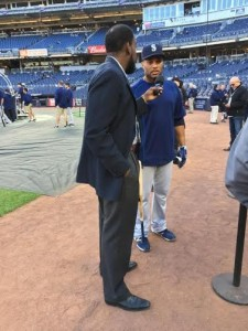 Former Yankee Robinson Cano returned to the Bronx with the Seattle Mariners for Jackie Robinson night.  Cano is named after Jackie Robinson.